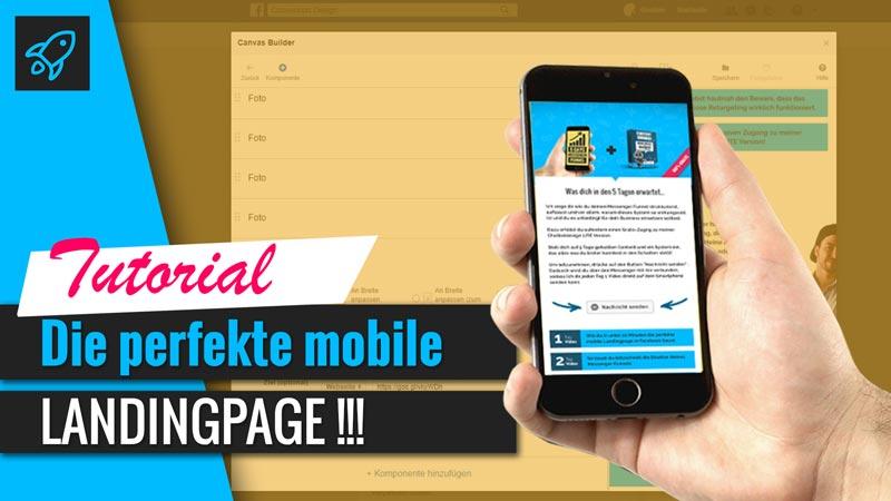 mobil optimierte Landingpage